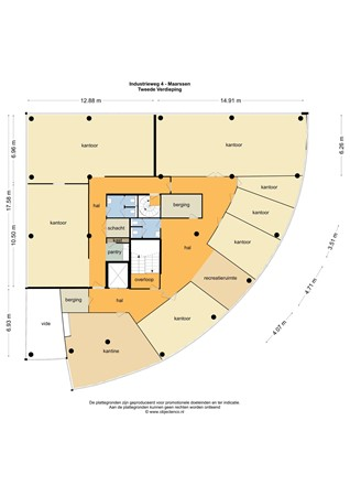 Floorplan - Industrieweg 4, 3606 AS Maarssen