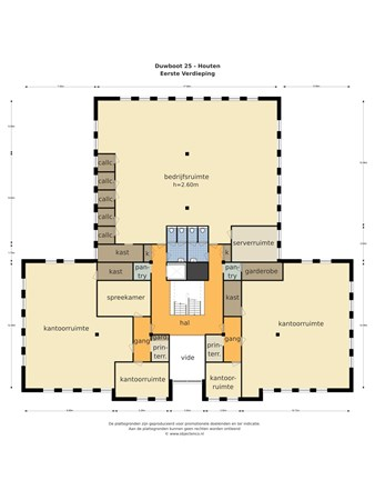 Floorplan - Duwboot 25, 3991 CD Houten