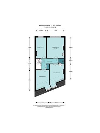 Floorplan - Nobeldwarsstraat 12, 3512 EX Utrecht