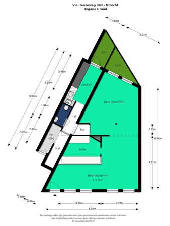Floorplan - Vleutenseweg 343, 3532 HG Utrecht