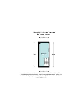 Floorplan - Blauwkapelseweg 15, 3572 KA Utrecht