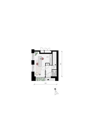 Floorplan - Dubbellaags benedenwoning Bouwnummer 37, 3527 KW Utrecht