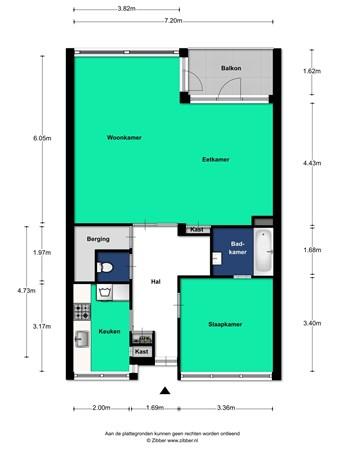 Floorplan - Beneluxlaan 44, 3527 HT Utrecht
