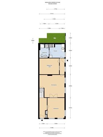 Floorplan - Bemuurde Weerd O.Z. 8en 8BIS, 3514 AN Utrecht