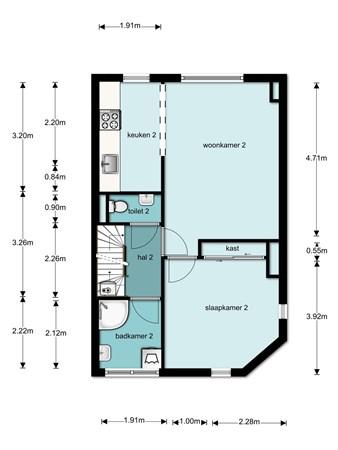 Floorplan - Amsterdamsestraatweg 435, 3553 EA Utrecht