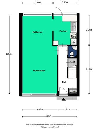 Floorplan - Rubicondreef 6, 3561 JC Utrecht