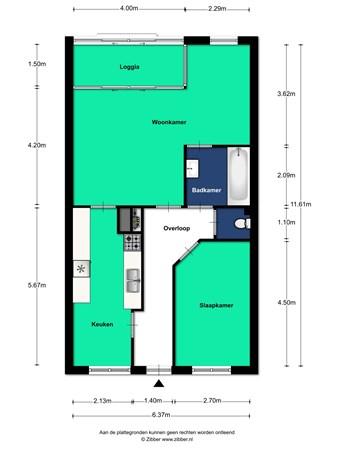 Floorplan - Leidseweg 193, 3533 HD Utrecht