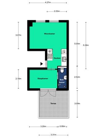 Floorplan - Hopakker 67a, 3514 BV Utrecht