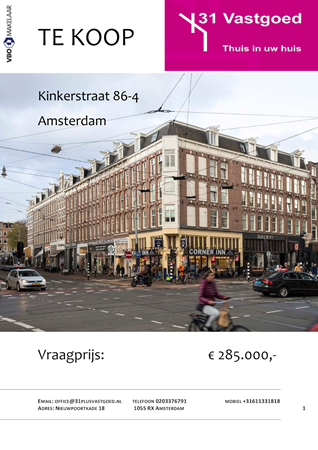 Brochure preview - TE KOOP format brochure kinkerstraat 86-4def.pdf
