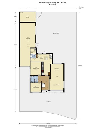 Floorplan - Wickenburghseweg 71, 3997 MT 't Goy