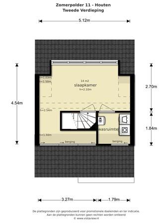 Floorplan - Zomerpolder 11, 3991 XT Houten