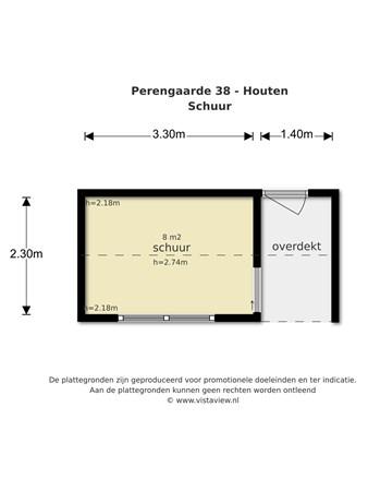 Floorplan - Perengaarde 38, 3992 JN Houten