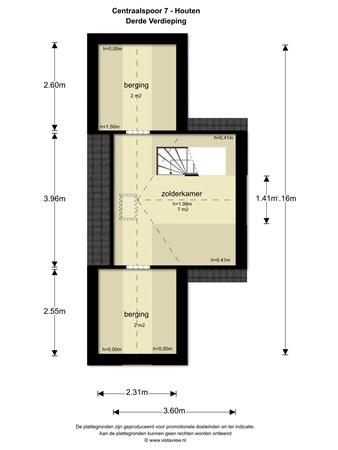 Floorplan - Centraalspoor 7, 3994 VA Houten