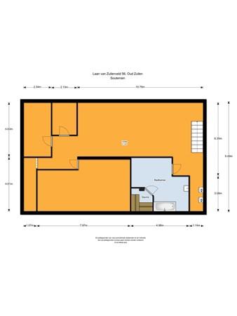 Floorplan - Laan van Zuilenveld 56, 3611 AJ Oud Zuilen