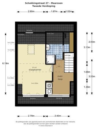 Floorplan - Schokkingstraat 27, 3601 XK Maarssen