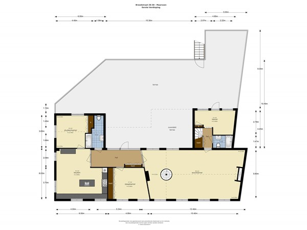 Floorplan - Breedstraat 28-30, 3603 BB Maarssen