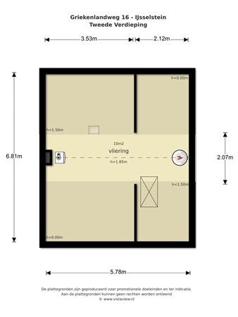 Floorplan - Griekenlandweg 16, 3402 AJ IJsselstein