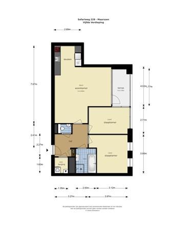 Floorplan - Safariweg 228, 3605 MD Maarssen