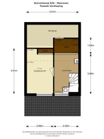 Floorplan - Duivenkamp 826, 3607 WE Maarssen