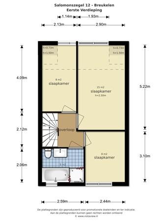 Floorplan - Salomonszegel 12, 3621 TE Breukelen