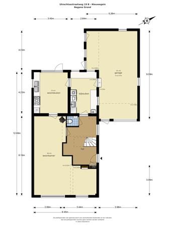 Floorplan - Utrechtsestraatweg 19B, 3438 AL Nieuwegein