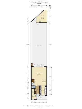 Floorplan - Andreasgaarde 33, 3436 RW Nieuwegein
