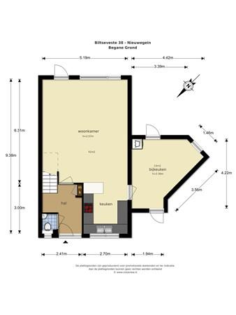 Floorplan - Biltseveste 38, 3432 AS Nieuwegein