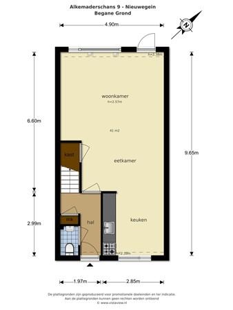 Floorplan - Alkemaderschans 9, 3432 CH Nieuwegein