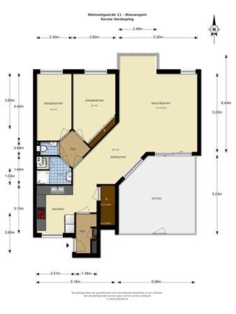 Floorplan - Walnootgaarde 11, 3436 JA Nieuwegein