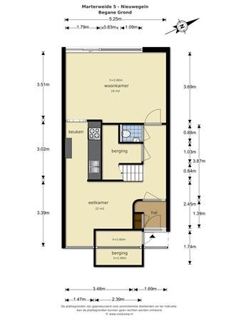 Floorplan - Marterweide 5, 3437 TK Nieuwegein