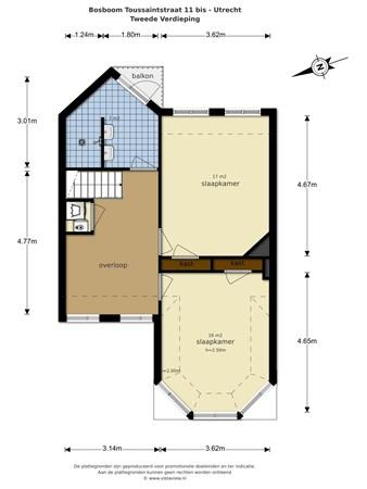 Floorplan - Bosboom Toussaintstraat 11bis, 3532 VK Utrecht