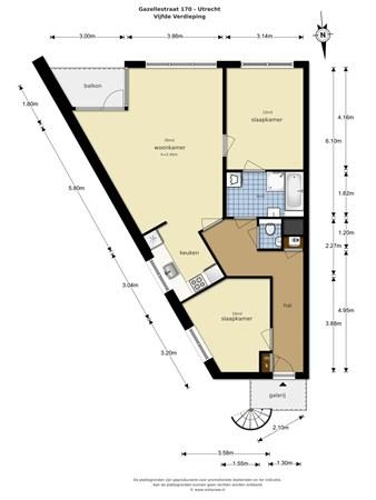 Floorplan - Gazellestraat 170, 3523 SZ Utrecht