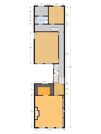 Floorplan - Voorstraat 5, 4233 EA Ameide