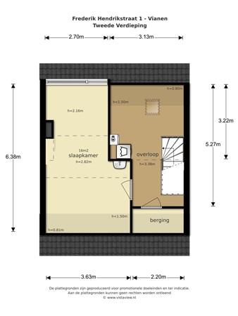 Floorplan - Frederik Hendrikstraat 1, 4132 GH Vianen