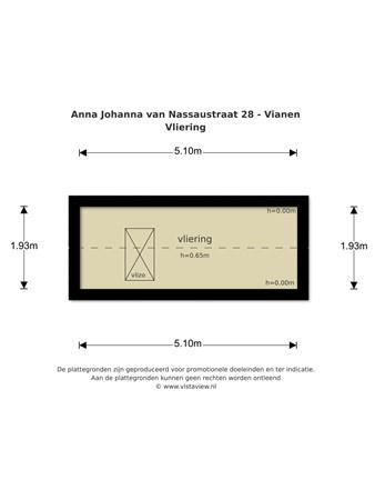 Floorplan - Anna Johanna van Nassaustraat 28, 4133 JC Vianen