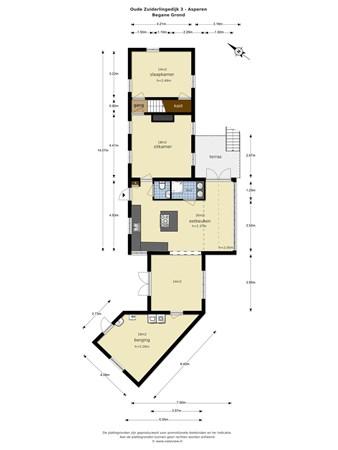 Floorplan - Oude Zuiderlingedijk 3, 4147 BP Asperen