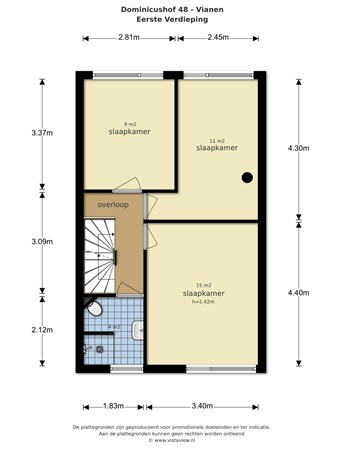 Floorplan - Dominicushof 48, 4133 AN Vianen