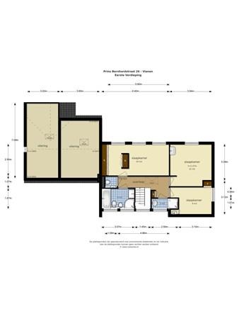 Floorplan - Prins Bernhardstraat 26, 4132 XG Vianen