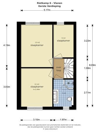 Floorplan - Rietkamp 6, 4133 CT Vianen