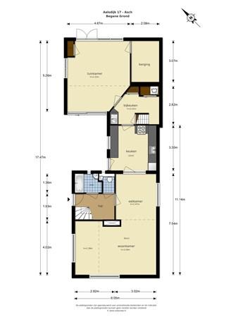 Floorplan - Aalsdijk 17, 4115 LN Asch