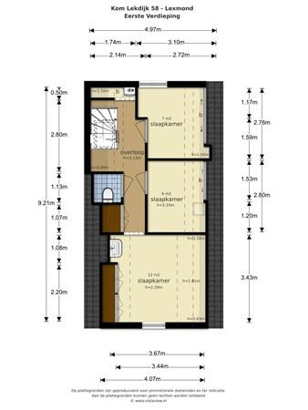 Floorplan - Kom Lekdijk 58, 4128 BV Lexmond