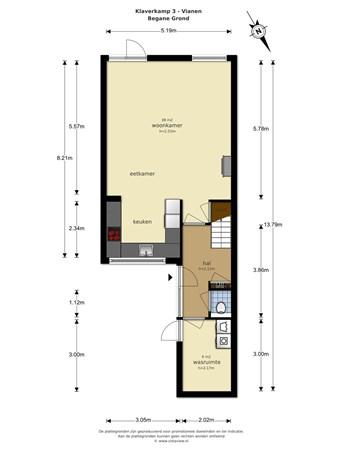 Floorplan - Klaverkamp 3, 4133 TD Vianen