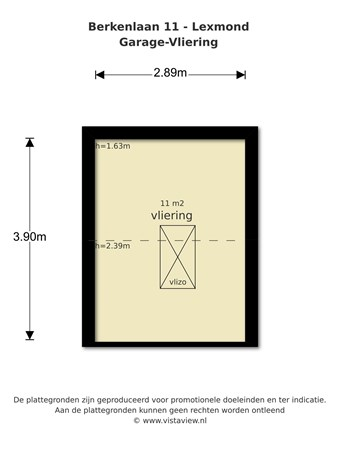 Floorplan - Berkenlaan 11, 4128 ST Lexmond