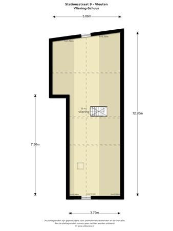 Floorplan - Stationsstraat 9, 3451 BV Vleuten