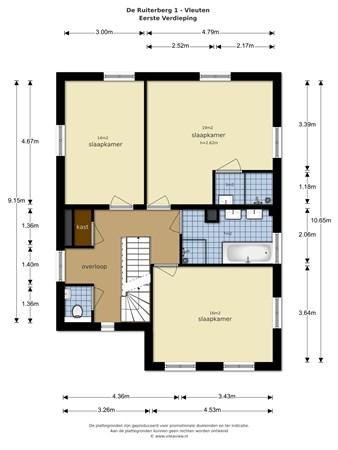Floorplan - De Ruiterberg  1, 3452 NB Vleuten