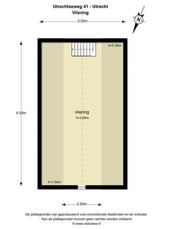 Floorplan - Utrechtseweg 41, 3544 NA Utrecht
