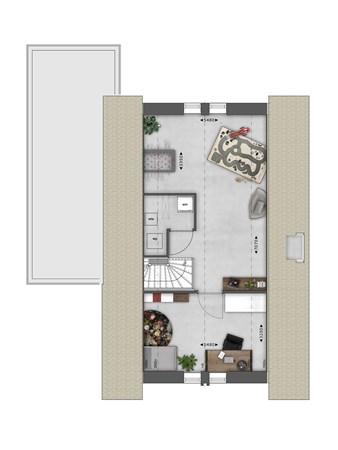 Floorplan - Bouwnummer 016 Bouwnummer 016, 4125 Hoef En Haag
