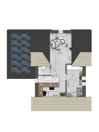 Floorplan - Bouwnummer 045 Bouwnummer 045, 4125 Hoef En Haag
