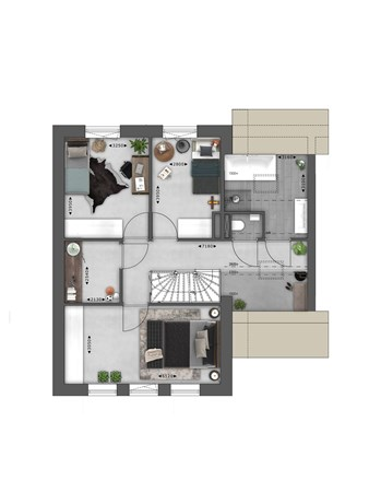 Floorplan - Bouwnummer 047 Bouwnummer 047, 4125 Hoef En Haag