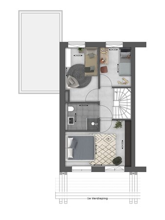 Floorplan - Bouwnummer 078 Bouwnummer 078, 4125 Hoef En Haag
